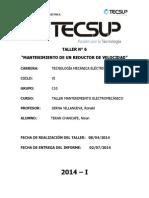 Informe - Reductor de Velocidad t6