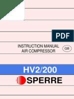 Sperre air compressor HV2-200