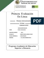 Primera Evaluacion en Linea - Finanzas Internacionales