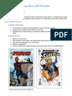 superhero self-portraits lesson plan