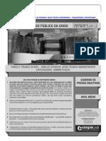 Cespe 2013 Mpu Tecnico Administrativo Prova