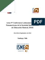 Actas ISME Chile 2013