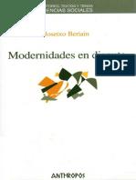 Beriain, J. - Modernidades en Disputa