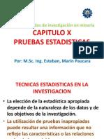 Cap. x Pruebas Estadisticas (Met. Invest. Min.)
