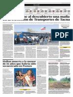 Audio pone al descubierto mafia en Dirección de Transportes en Tacna