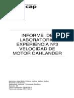 Informe de Motores Electricos . Partidas