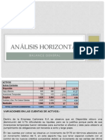 Analisis Horizontal - 3 Indices