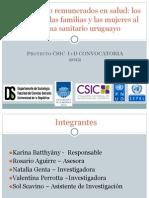 Cuidados No Remunerados en Salud- Los Aportes de Las Familias y Las Mujeres Al Sistema Sanitario Uruguayo