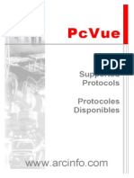 Available Protocols in PcVue