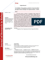 Empirical Validation of Reliability of Triangulation Methods of Mixed-method Mode Research Quality Improvement Strategies for Trypanosomiasis Control
