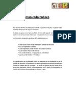 Comunicado Publico 8-7