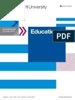 Education - Undergraduate Courses 2015