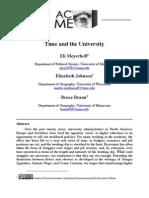 Time and the University (Meyerhoff E.,Johnson E.,Brown B.)