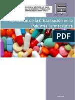 Aplicacion de La Cristalizacion en La Industria Farmaceutica