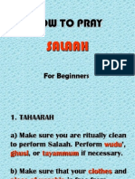 basics to islamic prayer