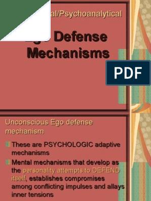 Ego Defense Mechanism Defence Mechanisms Psychological Schools