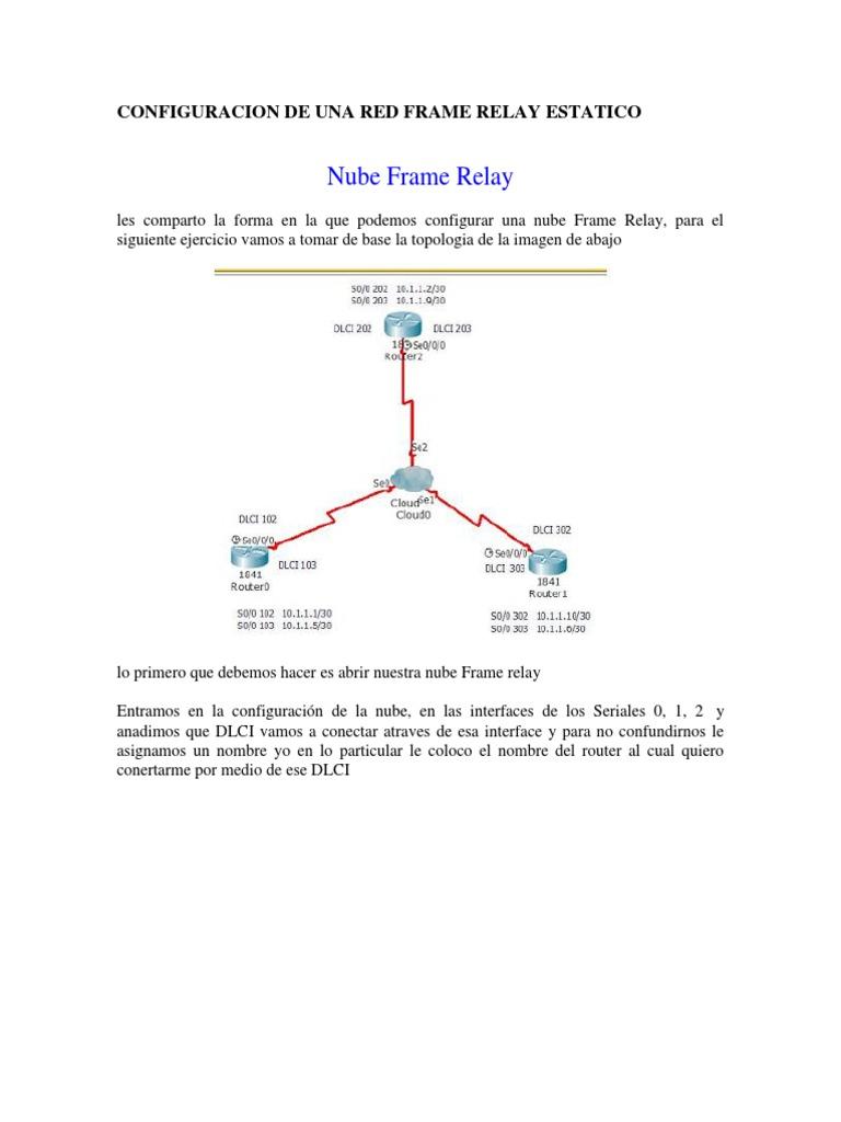 3-Configuracion de Una Red Frame Relay Estatico