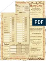 Mouse Guard Sheet