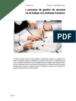 Evaluación de Procesos de Gestión de Recursos Humanos y Ética de Trabajo Con Sistemas Humanos