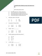 Ujian MT Tahun 4 K1 KSSR - Mac 2014