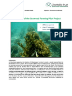 GVI Fiji Achievement Report March 2014- Yasawas.the Seaweed Farm Success