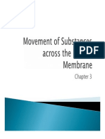 Movement of Substances Across the Plasma Membrane