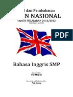 Pembahasan Soal UN Bahasa Inggris SMP 2012 (Paket Soal A86)