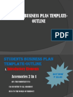Students Business Plan Template-outline