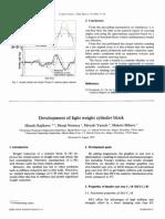JSAE Review - Development of Light Weight Cylinder Block