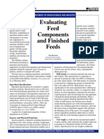 Feed evaluation