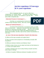 Experence Qsnts From Durga soft hyd  3+ exp java interview questions