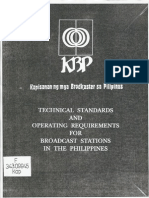 KBP Technical Standards & Operating Requirements for Broadcast Stations in the Philippines