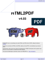 HTML to PDF user manual