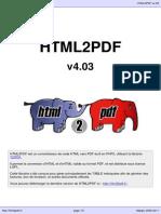 HTML to PDF user manual