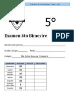 Examen 5º Bimestre 4