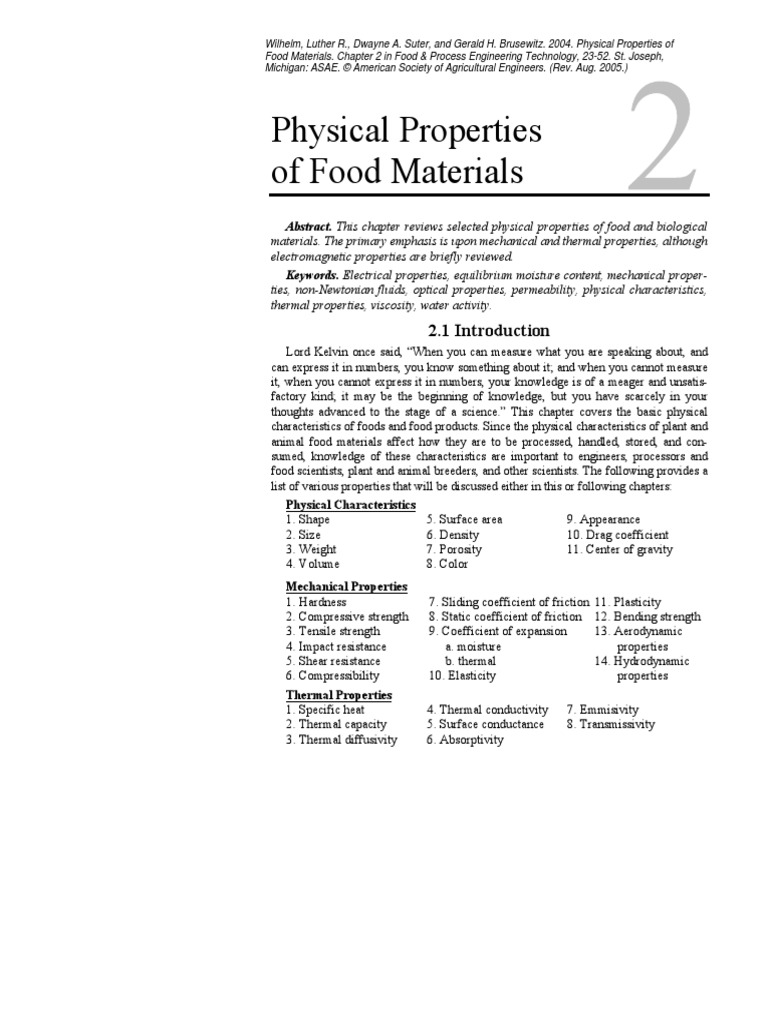 Physical Properties of Food Materials | Viscosity | Shear Stress