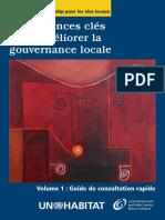 Compétences Clés Pour Améliorer La Gouvernance Locale Vol 1. (French)