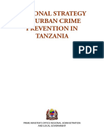 National Strategy on Urban Crime Prevention in Tanzania