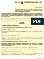 The Air (Prevention and Control of Pollution) Act 1981, Amended 198