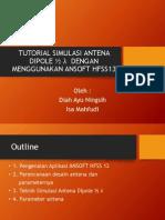 Tutorial Membuat Antena Dipole Dengan Menggunakan Ansoft Hfss13