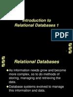 Relational Databases