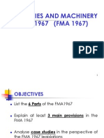 Factories and Machinery Act 1967 (FMA 1967)