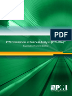 PMI Professional Business Analyst ContentOutline