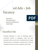 Classified Ads – Job Vacancy