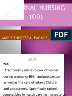 Maternal Nursing- Ob