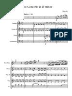 Marcello Oboe Concerto Score