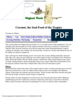 Coconut the Soul Food of the Tropics and Vegetarian Recipes 2004