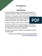 Project Solar Power Generation