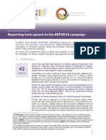 Reporting hate speech in the #EP2014 campaign