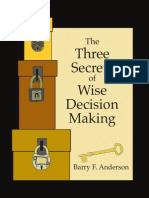 The Secrets of Wise Decision Making